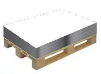 Гладкий лист белый RAL 9003 разм. 1250*2000*0,4мм в пленке