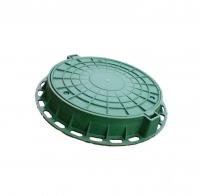 Люк полимерно-композитный легкий 730*60 мм зеленый, 1,5т