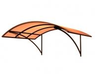 Поликарбонат оранжевый толщ. 4мм, шир. 2100мм
