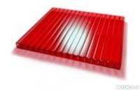 Поликарбонат красный толщ. 6мм, шир. 2100мм
