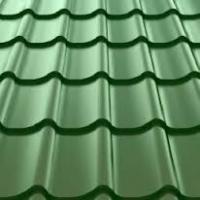 "Металлочерепица монтеррей"" зеленая RAL 6005 размер 2950 *1180 *0,45мм"""