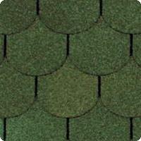 Битумная черепица ТАНГО бобровый хвост зеленый, р.1м*0,317 (уп=3м2/21шт)
