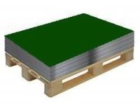 Гладкий лист зелен RAL 6005 разм. 1250*2000*0,4мм в пленке