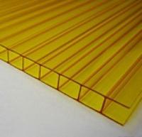 Поликарбонат желтый  ширина 2100мм, толщина 4мм