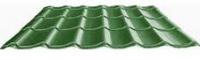 "Металлочерепица монтеррей"" зеленая RAL 6005 размер 2250 *1180 *0,45мм"""