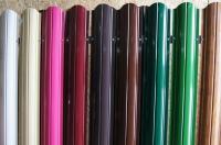 Штакетник метал. радиусный коричневый RAL8017 размер 120*1600мм