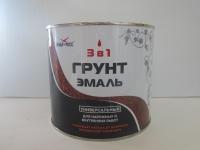 Грунт-эмаль АЛЬБАТРОС 3в1 по ржавчине красно-коричневый 0,9кг