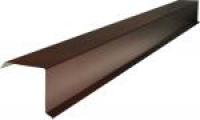 Ветровая планка коричневая RAL 8017 на крышу L-2000мм