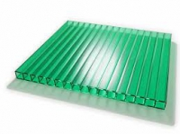 Поликарбонат зеленый толщ. 8мм, ширина 2100мм