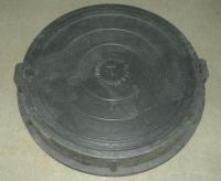 Люк полимерно-композитный СРЕДНИЙ 780*100*60 мм черный, 12,5 тонн