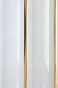 Панель ПВХ Декор панель 2-секц. золото (белый) 0,2*3м (1уп=10шт/6м2)(скидка)