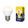 Лампа светодиод.VOLPE 9Вт Е27 3000К шар матовый UL-00003829