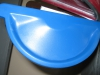 Заглушка желоба синяя левая/правая RAL-5005
