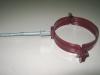 Крепеж трубы с саморезом вишневый RAL-3005 d100мм