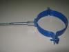 Крепеж трубы с саморезом синий d-100мм RAL-5005
