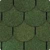 Битумная черепица ТАНГО бобровый хвост зеленый, разм. 1000*317 (3м2, 21шт/уп)