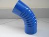 Колено отмет синее d-100мм RAL-5005
