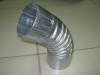 Колено трубы оцинкованное d100 мм