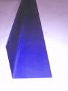 Планка угловая внутренняя синяя RAL 5005, размер L-2000мм, 100*100мм