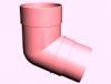 Колено 72 пластиковое гранат