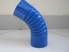 Колено трубы синее d-100мм RAL-5005