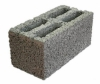 Керамзито-бетонный блок пустотелый 4-х щелевой. Размер 38*19*19см, вес16кг Алексин пр-ль(90шт)(60%керамзит,20% песок,,20% цемент)