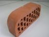 Кирпич керамический пустотелый полукруглый 2х сторонний ложковый лицевой красный  М150 размер 250*120*88мм