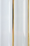Панель ПВХ Декор панель 2-секц. золото (белый) 0,2*3м (1уп=10шт/6м2)